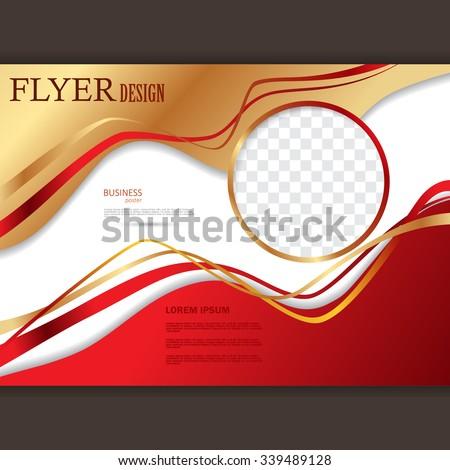 Vector Horizontal Flyer Template Design Editable Stock Vector - Template for making a flyer