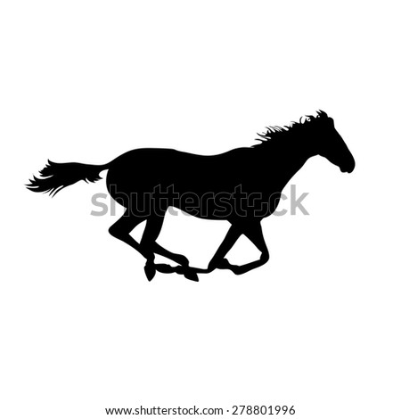 Vector horse images. Silhouette horse drawings. horse posters. Running horse silhouette. Silhouette of a horse head - stock vector