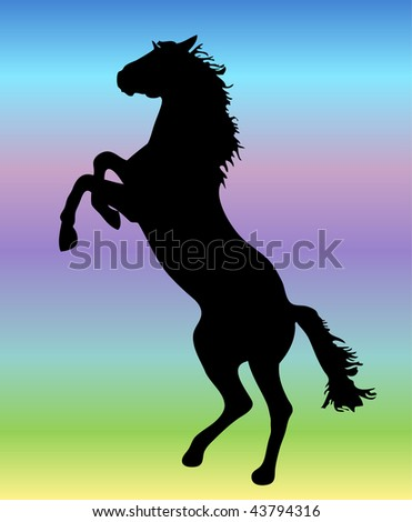 Vector horse mini decoration element - stock vector
