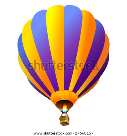 vector hot air balloon (only gradients)