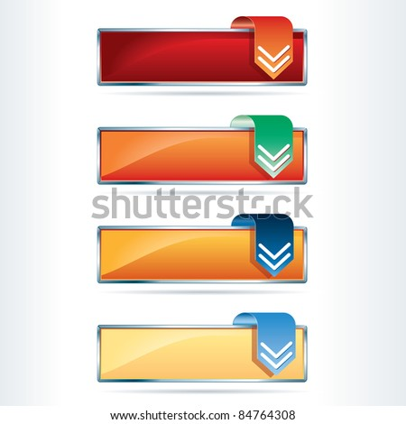 vector hot download buttons - stock vector