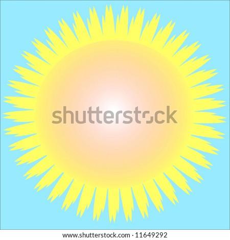 Vector Hot Summer Sun - stock vector