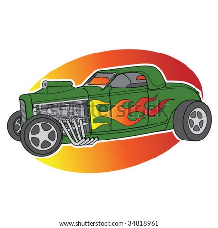 Vector Hotrod - stock vector