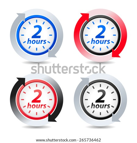 Vector 2 hours - stock vector