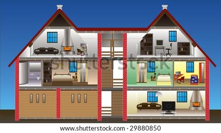 vector house - stock vector