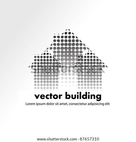 vector house design - stock vector