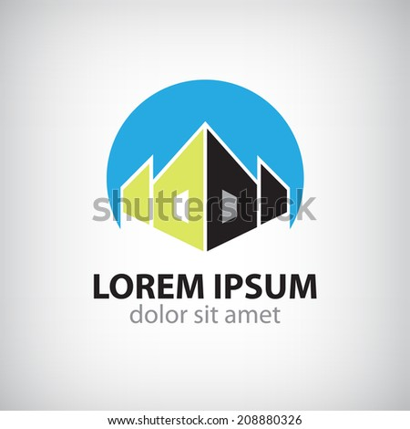 vector house icon, logo isolated - stock vector