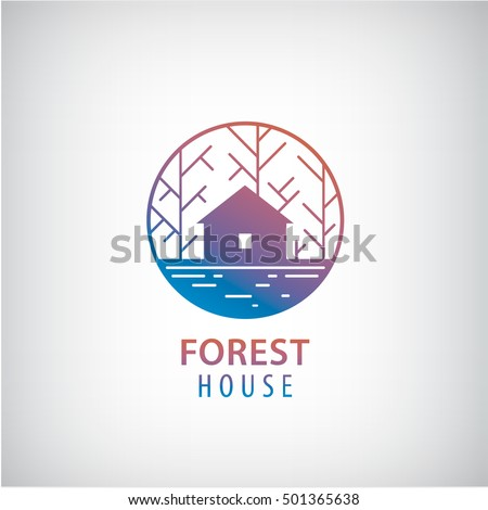 Perfect Vector House Woods Logo Cabin Forest Stock Vector 501365638   Shutterstock
