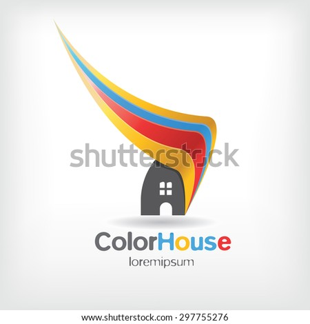 vector house logo for company isolated, identity - stock vector