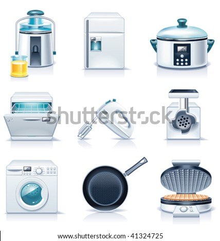 Vector household appliances icons. Part 3 - stock vector