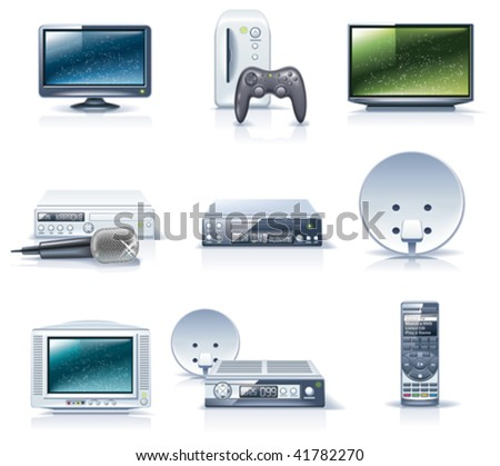 Vector household appliances icons. Part 6 - stock vector