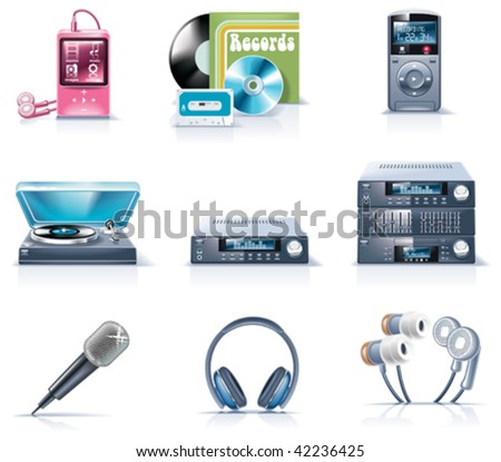 Vector household appliances icons. Part 9 - stock vector