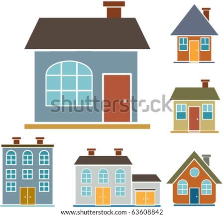 vector houses - stock vector