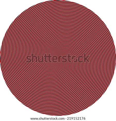 vector - Hypnosis Spiral Design Pattern. Twisted background. Vector illustration.  - stock vector