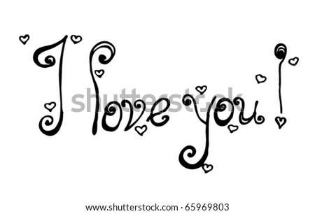 i love you in cursive font - photo #26