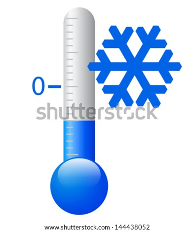 Vector ice cold symbol - stock vector