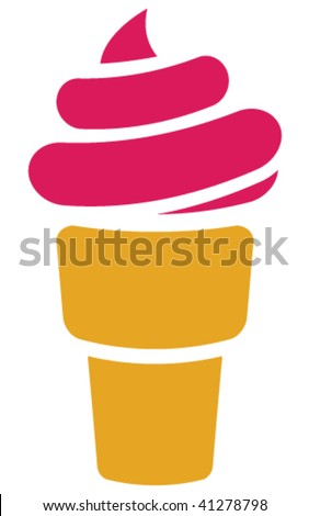 Vector ice cream. - stock vector