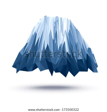 Vector - iceberg geometric (illustration of a many triangles)  - stock vector