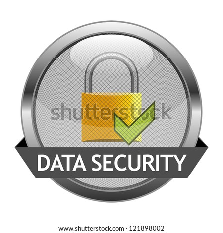 Vector Icon Data Security - stock vector