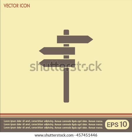 Vector icon Direction road signs