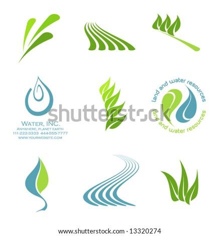 vector Icon elements set 2- environmental - stock vector