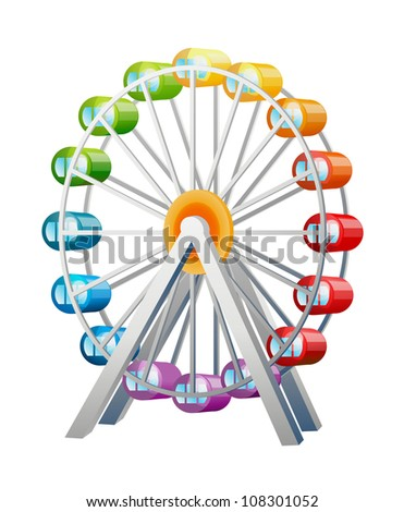 vector icon ferris wheel - stock vector