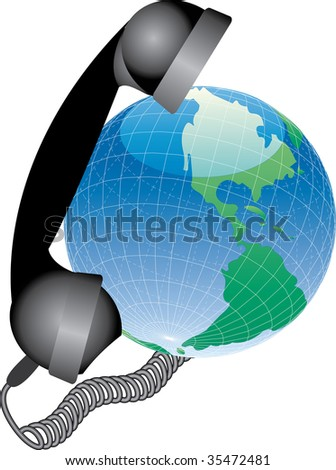 vector icon for global phone connection