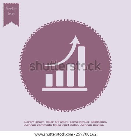 Vector icon growth diagram  - stock vector