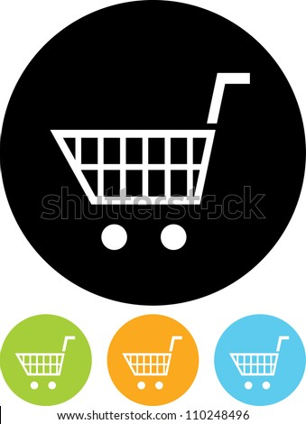 Vector icon isolated - Empty shopping cart - stock vector