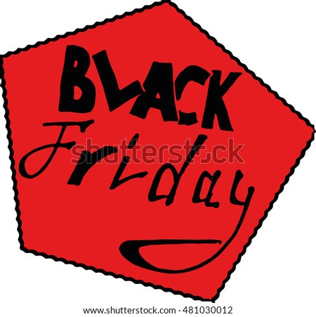 vector icon labeled Black Friday