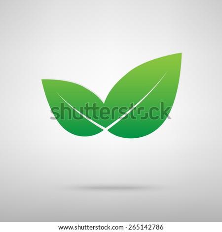 vector icon leaf - stock vector