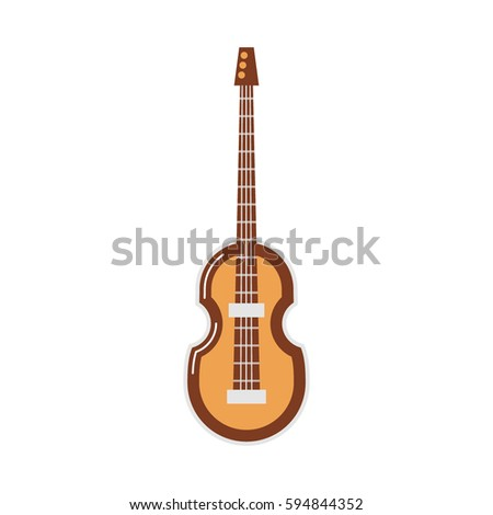 Vector icon of a guitar on white background. Musical instruments topic.