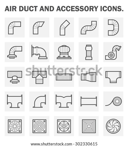 Vector Icon Air Duct Pipe Pipe Stock Vector Royalty Free