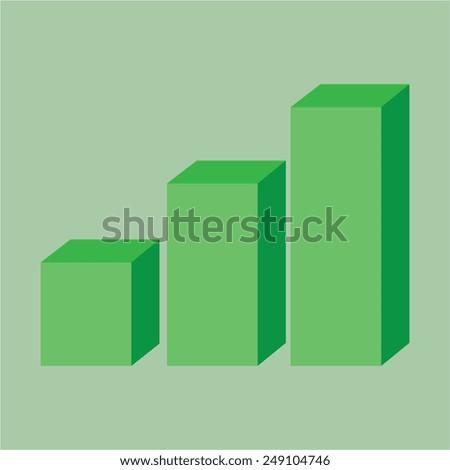 Vector icon of 3D diagram - stock vector