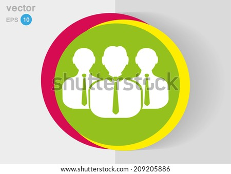 vector icon of team work - stock vector