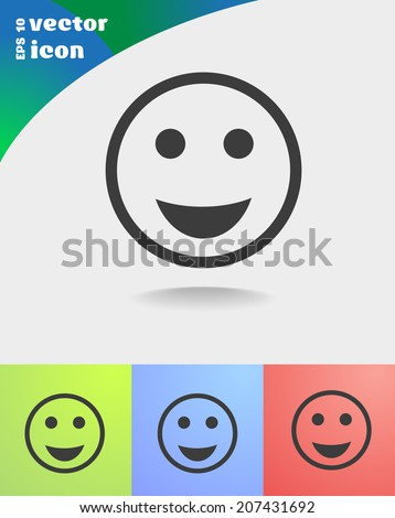 vector icon on colorful background - stock vector