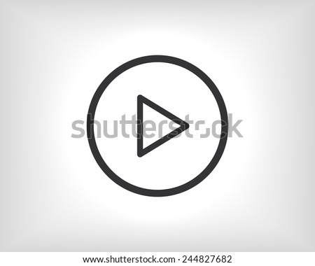 Vector icon Play button web icon - stock vector