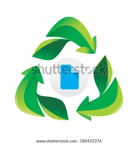 Vector icon print paper recycle design