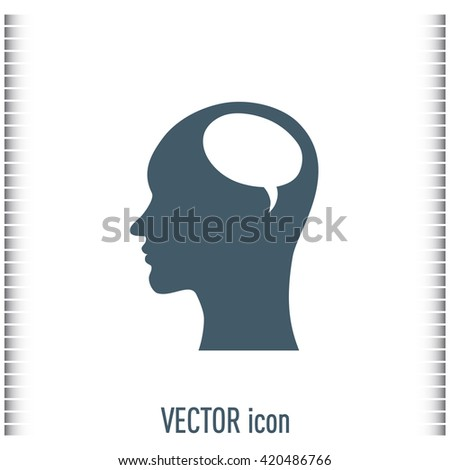 Vector icon profile  - stock vector