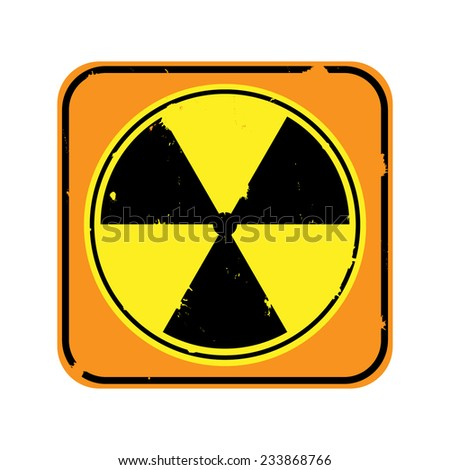 Vector icon - radiation  sign isolated on white background - stock vector