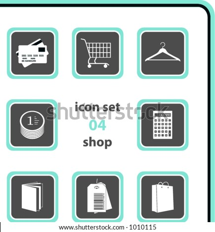 vector icon set 04: shop - stock vector