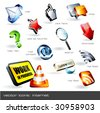 vector icon set: web (12 pieces) - stock vector