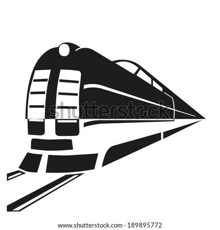 Vector icon Train outline - stock vector