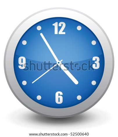 Vector icon  wall clock, it is easy to change and edit. - stock vector