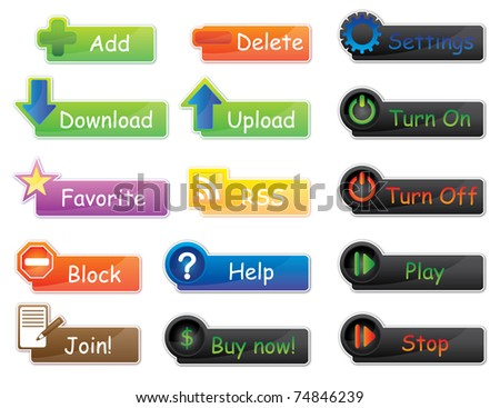 Vector icons and buttons pack ideal for website or applications. Everything is very easy to edit.