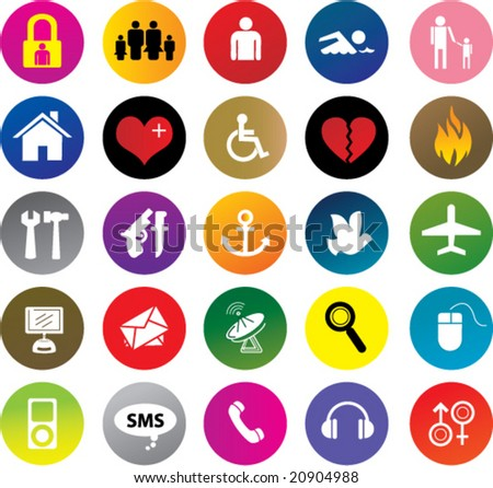 vector icons & design elements - stock vector
