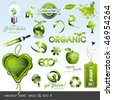 vector icons: eco & bio II - stock photo