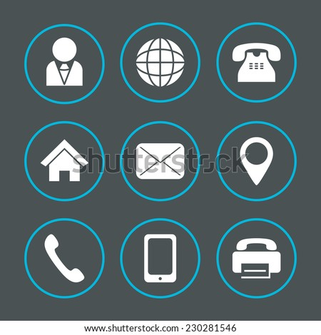 Vector icons for information and web printing - stock vector