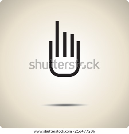 Vector icons for mobile devices.  - stock vector