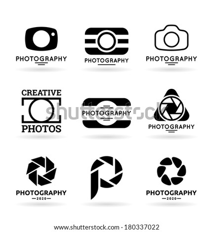Vector Icons For Photographers (6) - stock vector